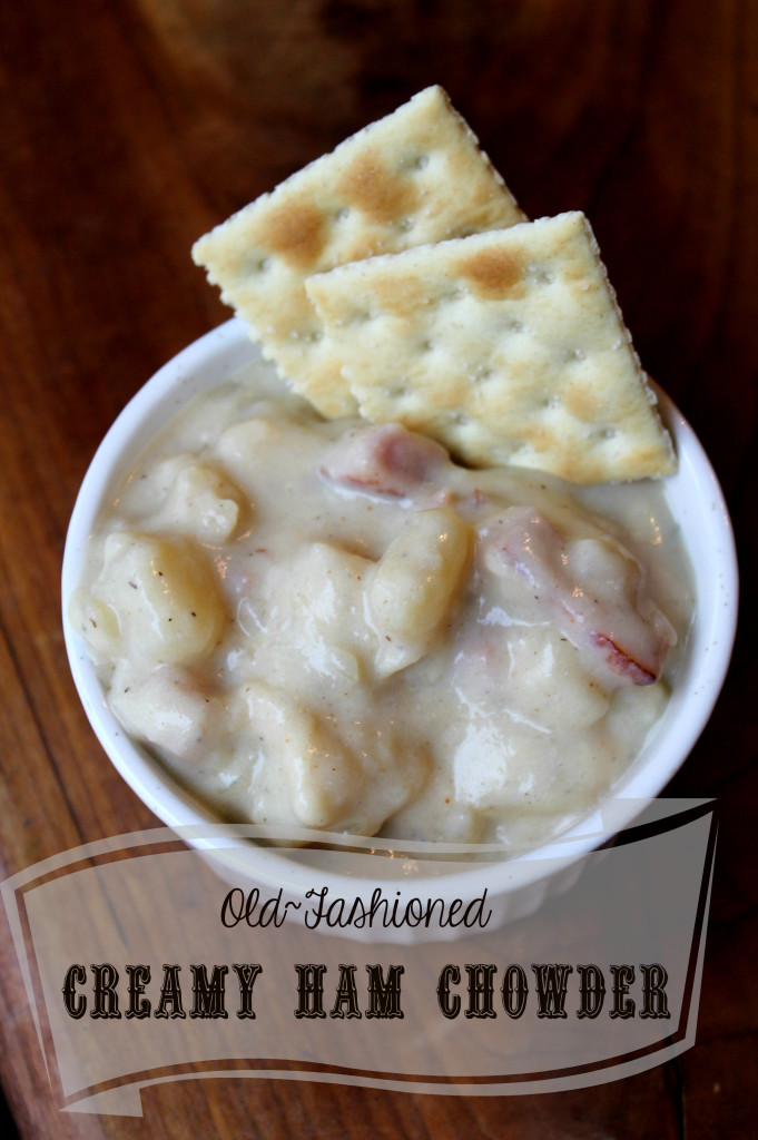 Ham and potato Chowder soup economical, diy homemade