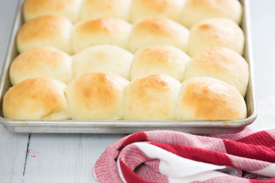 pan of rolls