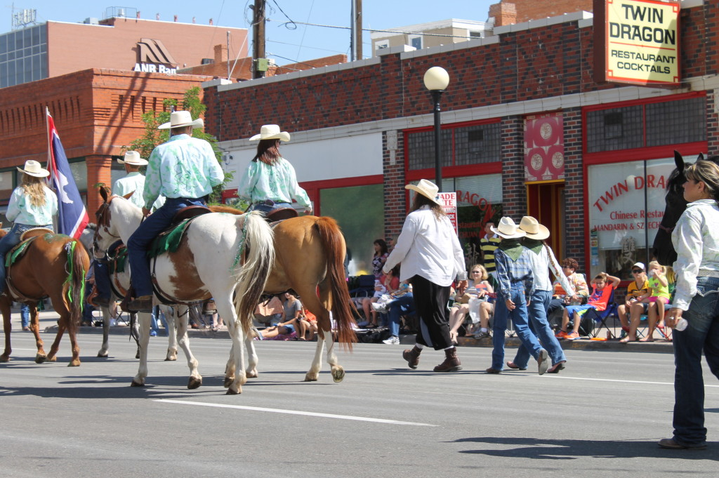 My kids were able to walk in the Cheyenne Frontier Days Parade.