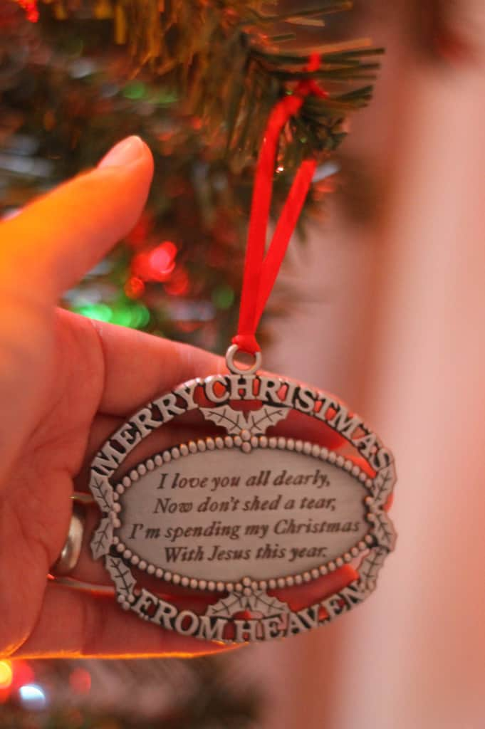 Someone gave us this ornament after our son died. I like it.
