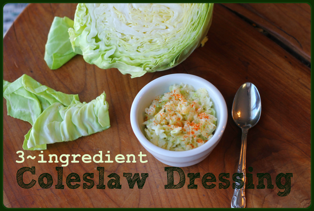 Easy coleslaw dressing recipe!