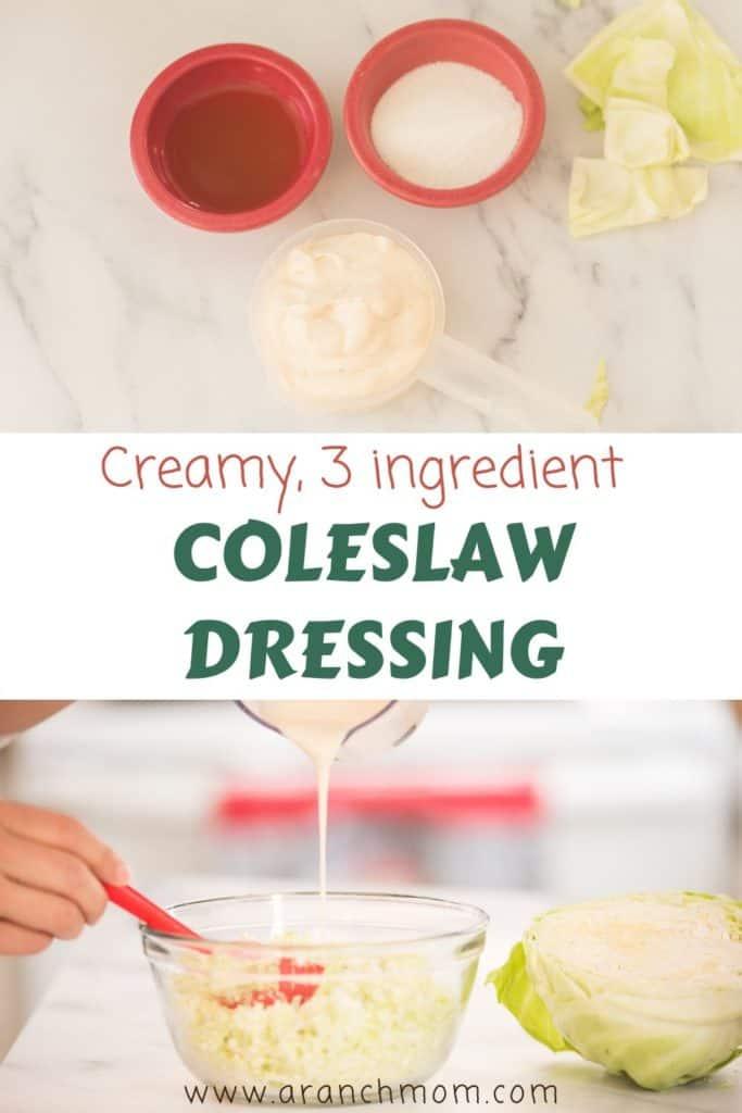 3 ingredient coleslaw dressing recipe Amish-style
