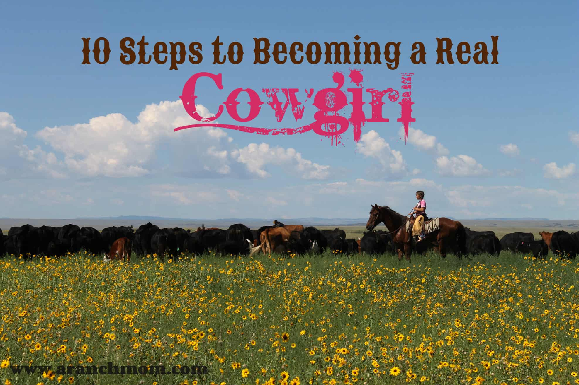 10 steps to becoming a real cowgirl