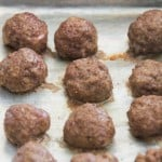 Simple Beef Meatballs in the Oven