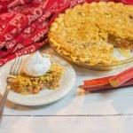 rhubarb pie on plate