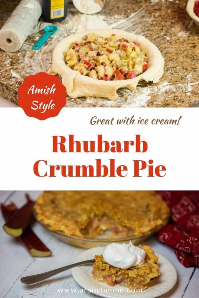 pinterest image for rhubarb pie