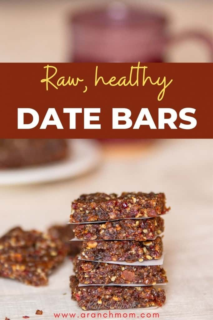 pinterest image for date nut bars