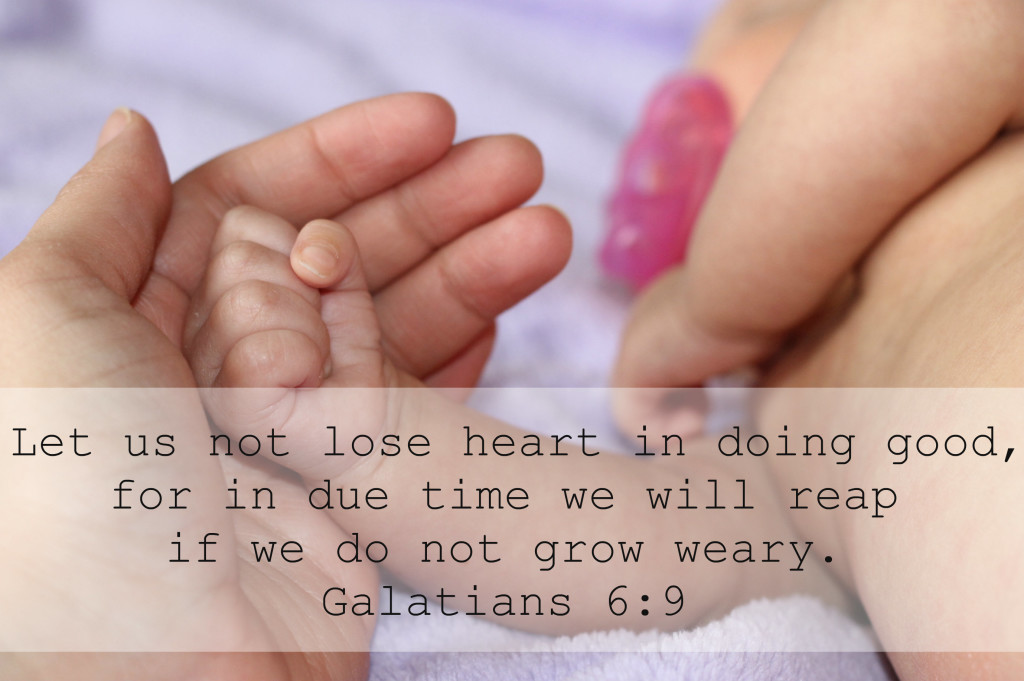 do not grow weary