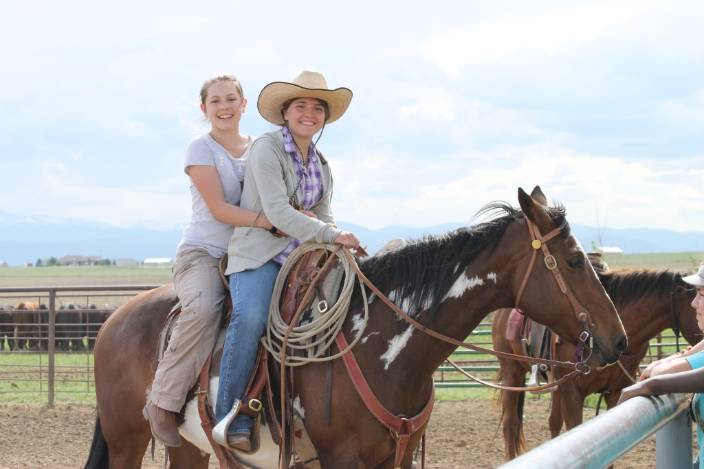 Cowgirl and city girl. Great friends! :)