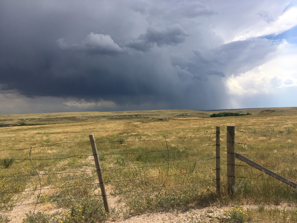 Storm on the prairie.