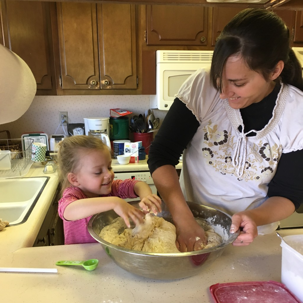 Cooking with mama