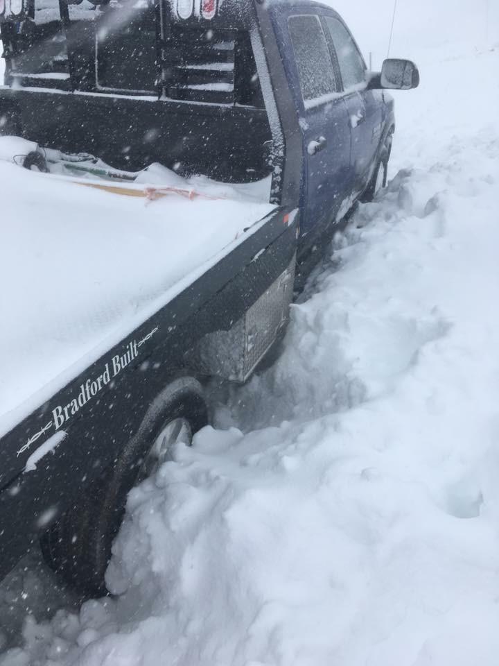 dodge stuck in snow