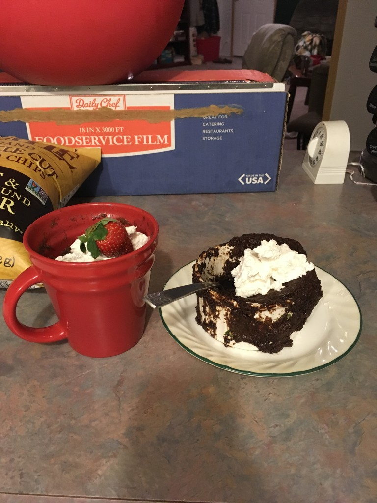 Then i undo the good of the veggies with my mug cakes! They flopped.