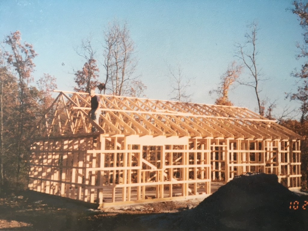 Building our tiny house! 2005
