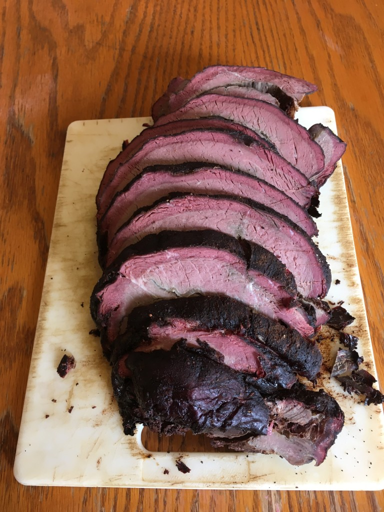 Smoked elk roast