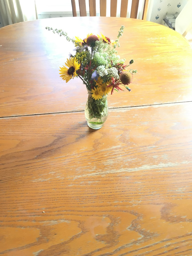 My sweet mother-in-law picked these flowers for me.