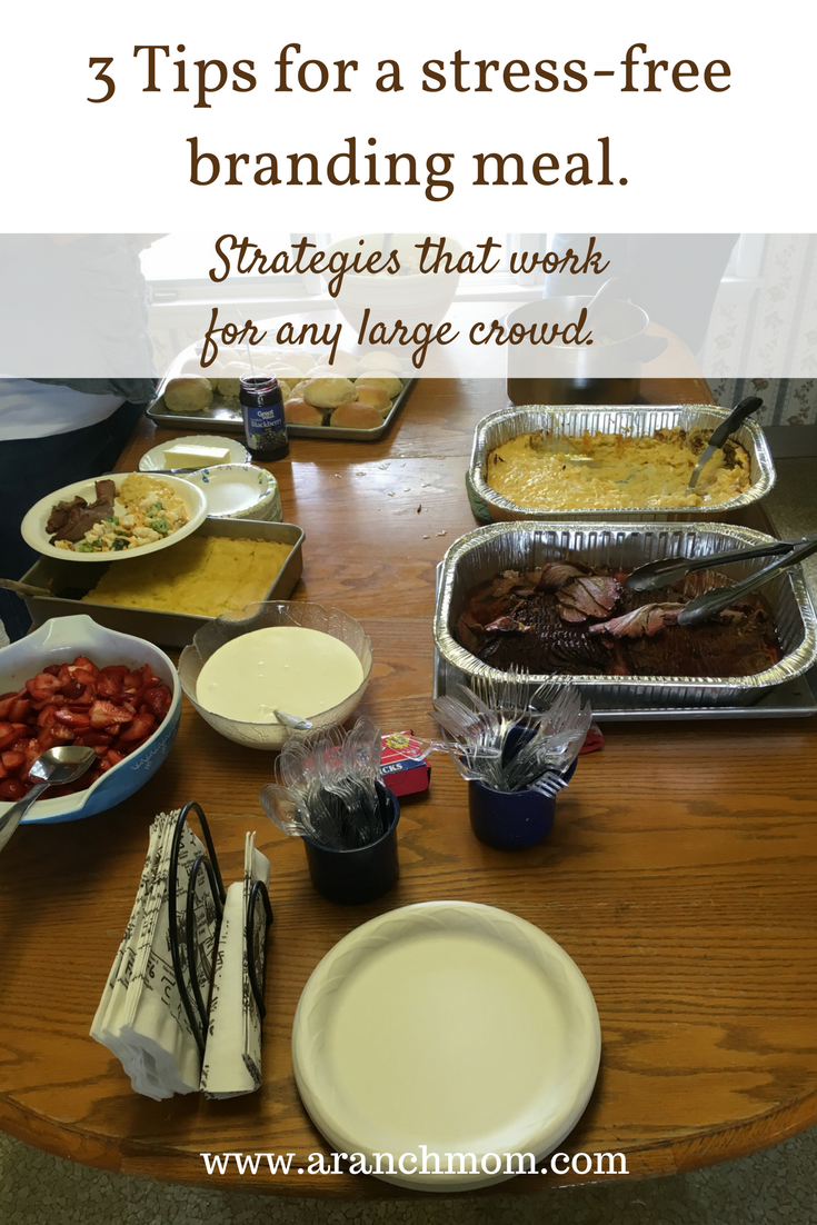 3 tips for a stress free branding meal. Strategies that work for any large crowd.