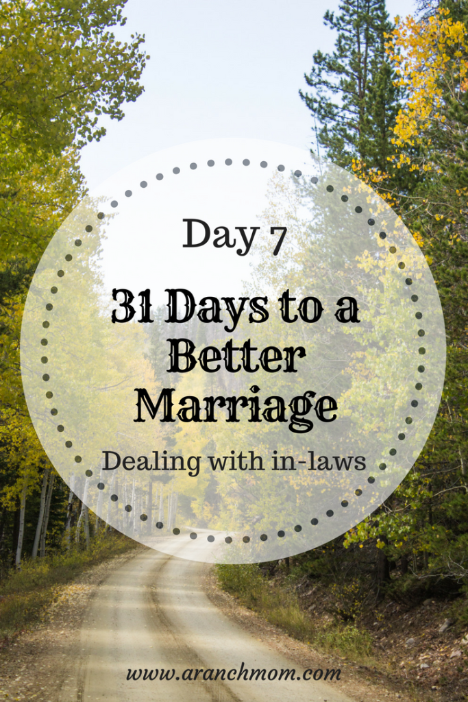 31 days to a better marriage, dealing with in-laws