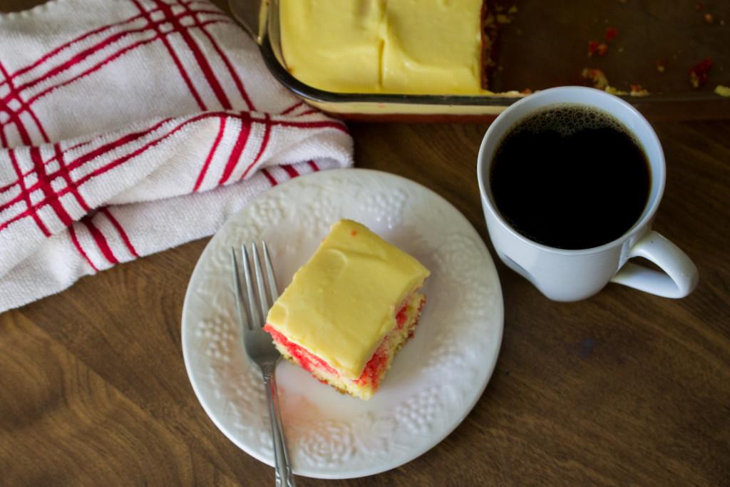 Easy Jello Pudding Cake Recipe #holiday