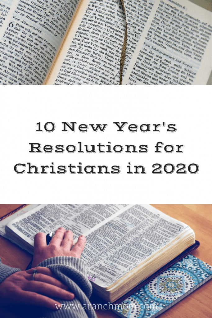 10 New Year's Resolutions for Christians in 2020