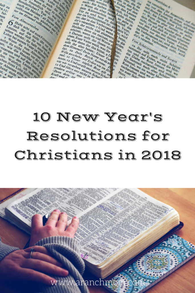 10 New Year's Resolutions for Christians in 2018