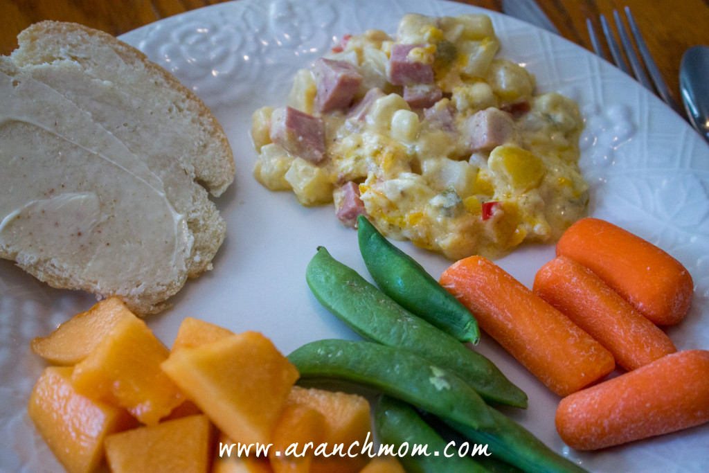 Cheesy Ham and Potato casserole, perfect for using christmas leftovers! Easy, one-dish meal.