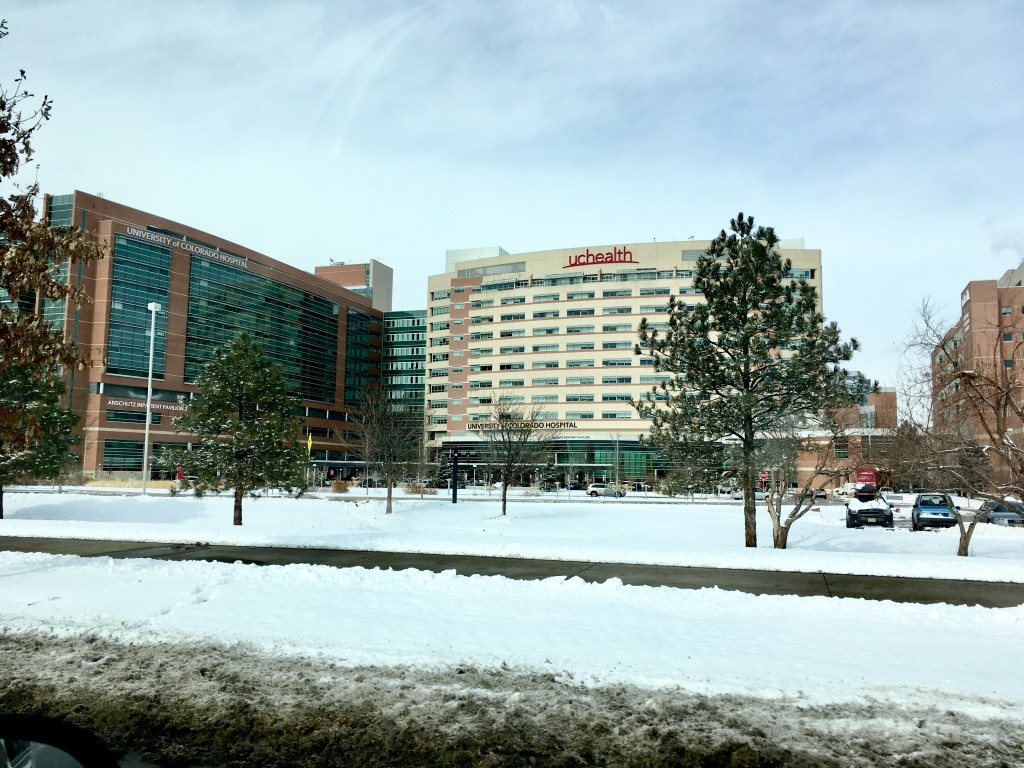 University of Colorado Hospital, day before surgery.