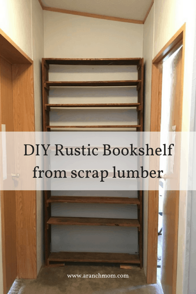 DIY Rustic Bookshelf from scrap lumber
