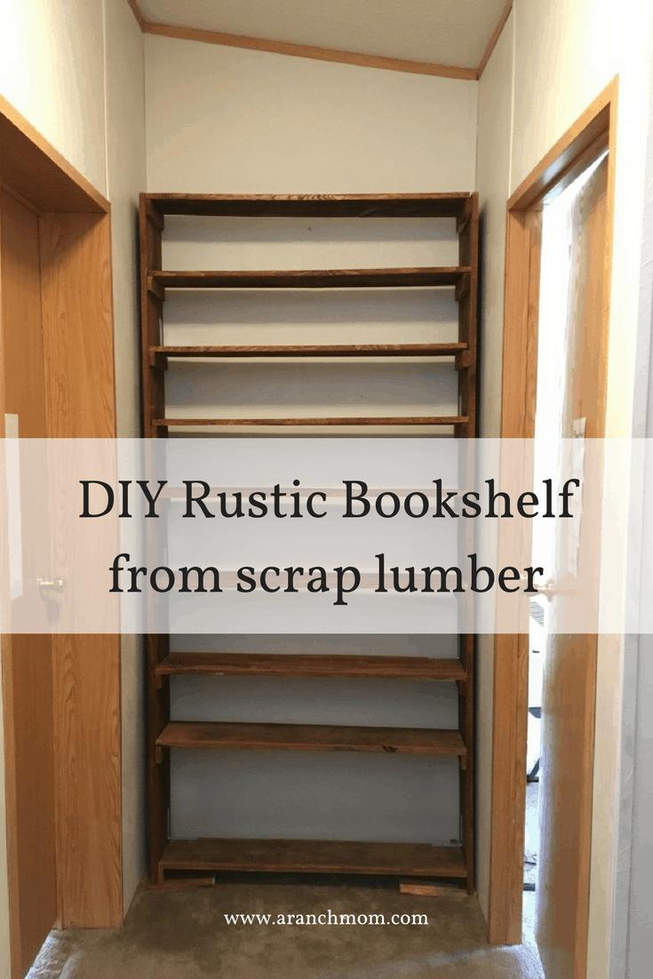 diy rustic bookshelf a ranch mom
