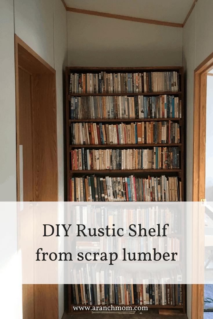 DIY Rustic Bookshelf from scrap lumber