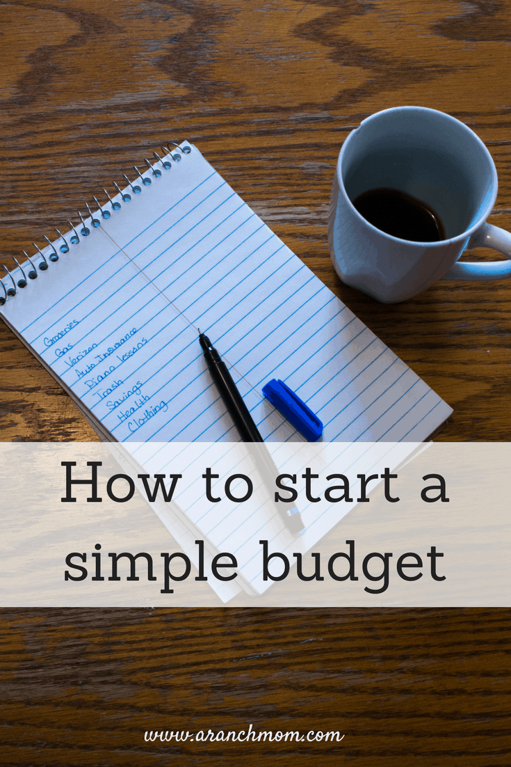 How to start a simple budget - notebook pen coffee
