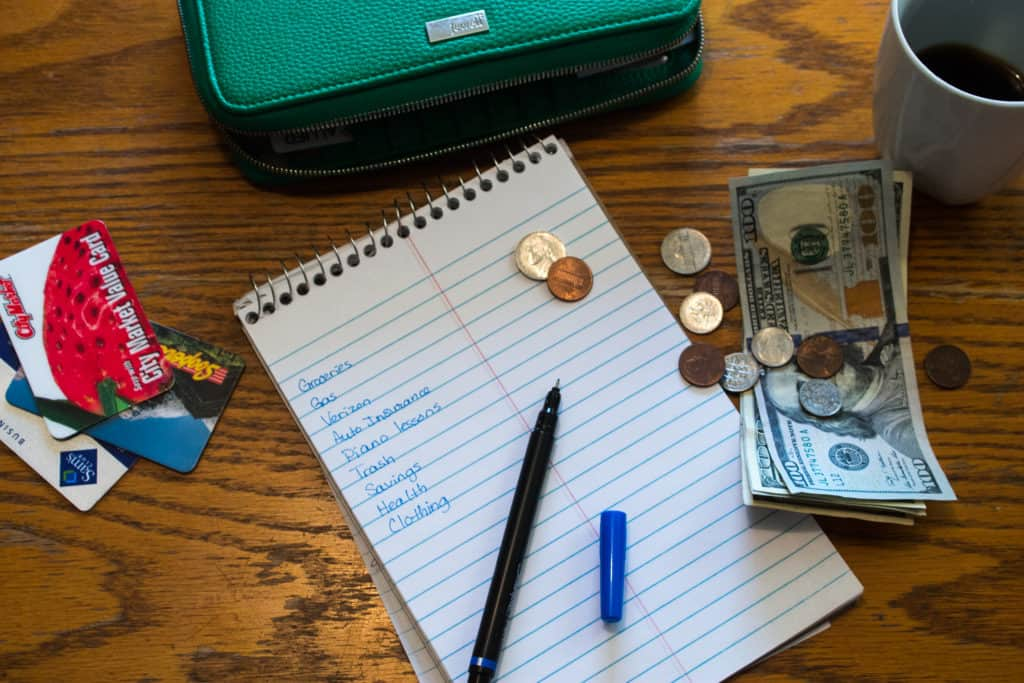 How to start a simple budget - wallet, money, notebook