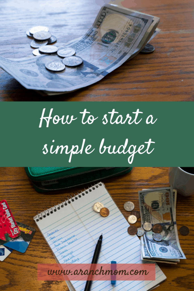 How to start a simple budget - money