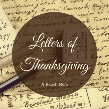 Letters of Thanksgiving - a new kind of Thankful challenge!