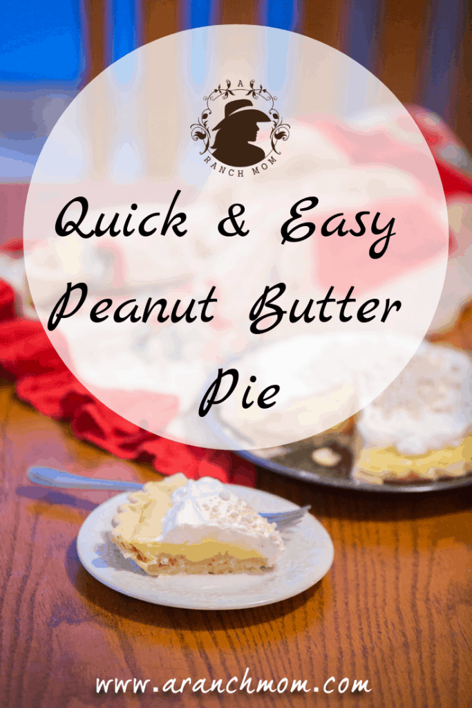 Quick & Easy Peanut Butter Pie