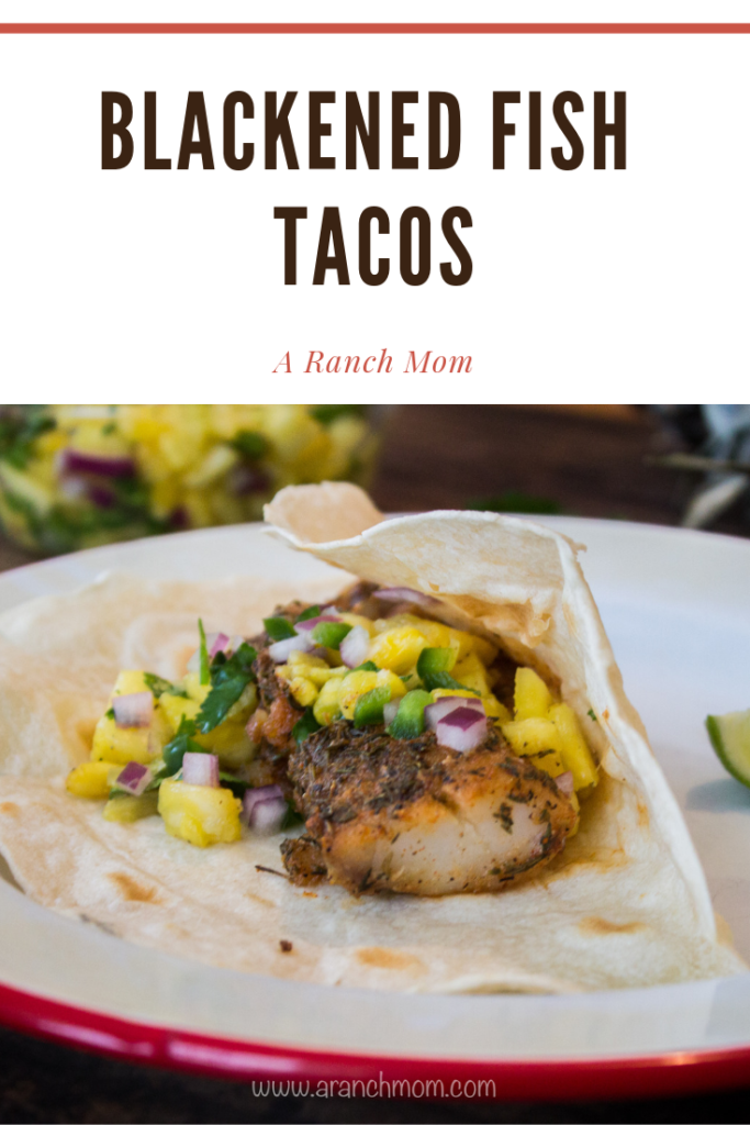 Easy Blackened Fish Tacos Recipe #seafood #tilapia #cod #trout