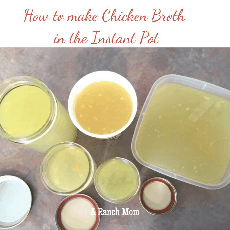 How to make chicken broth in the Instant Pot. #chicken #instantpot #recipe #homemade #broth #stock