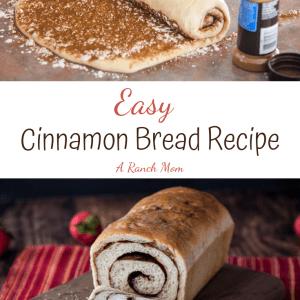 Pinterest image of cinnamon bread