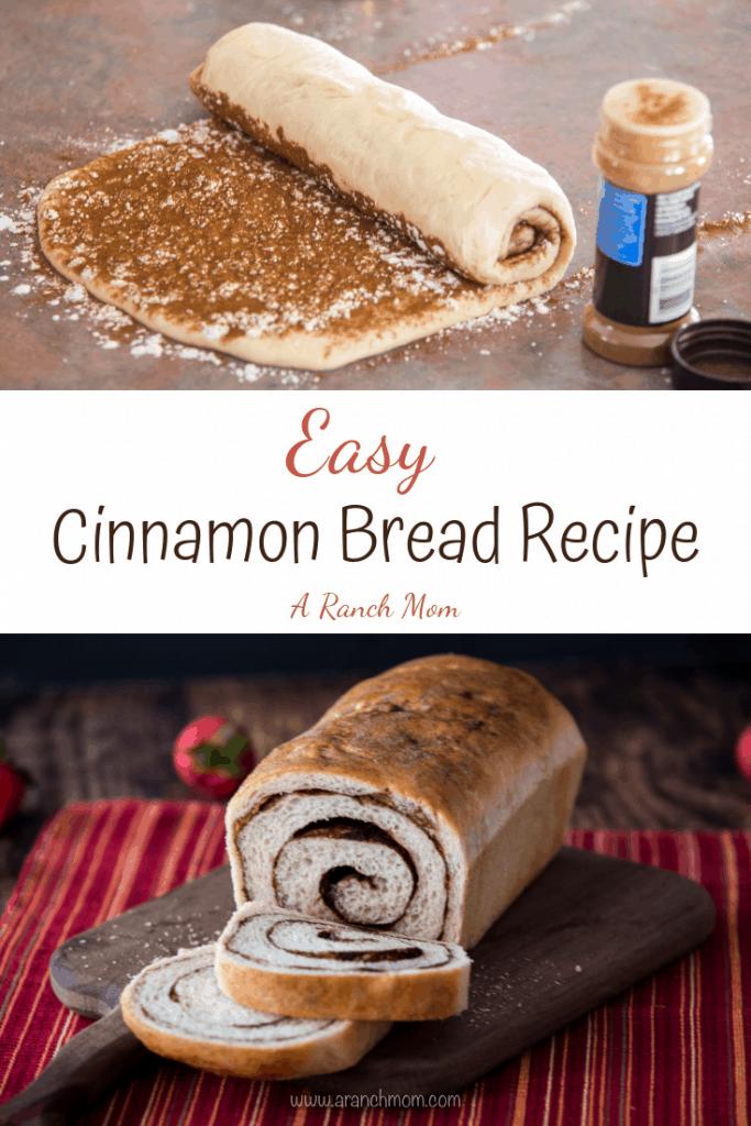 Easy Cinnamon Bread Recipe pin graphic