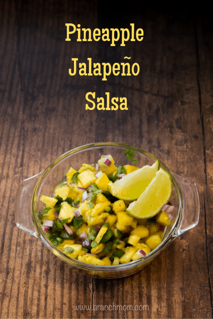 Pineapple Jalapeno Salsa Recipe, a bright and delicious twist on the classic. Sweet pineapple and spicy jalapeno stirred together witha splash of lime make a mouthwatering burst of flavor!
