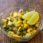 Pineapple Jalapeno Salsa Recipe, sweet and spicy twist on regular salsa! Delicious on fish and chicken.