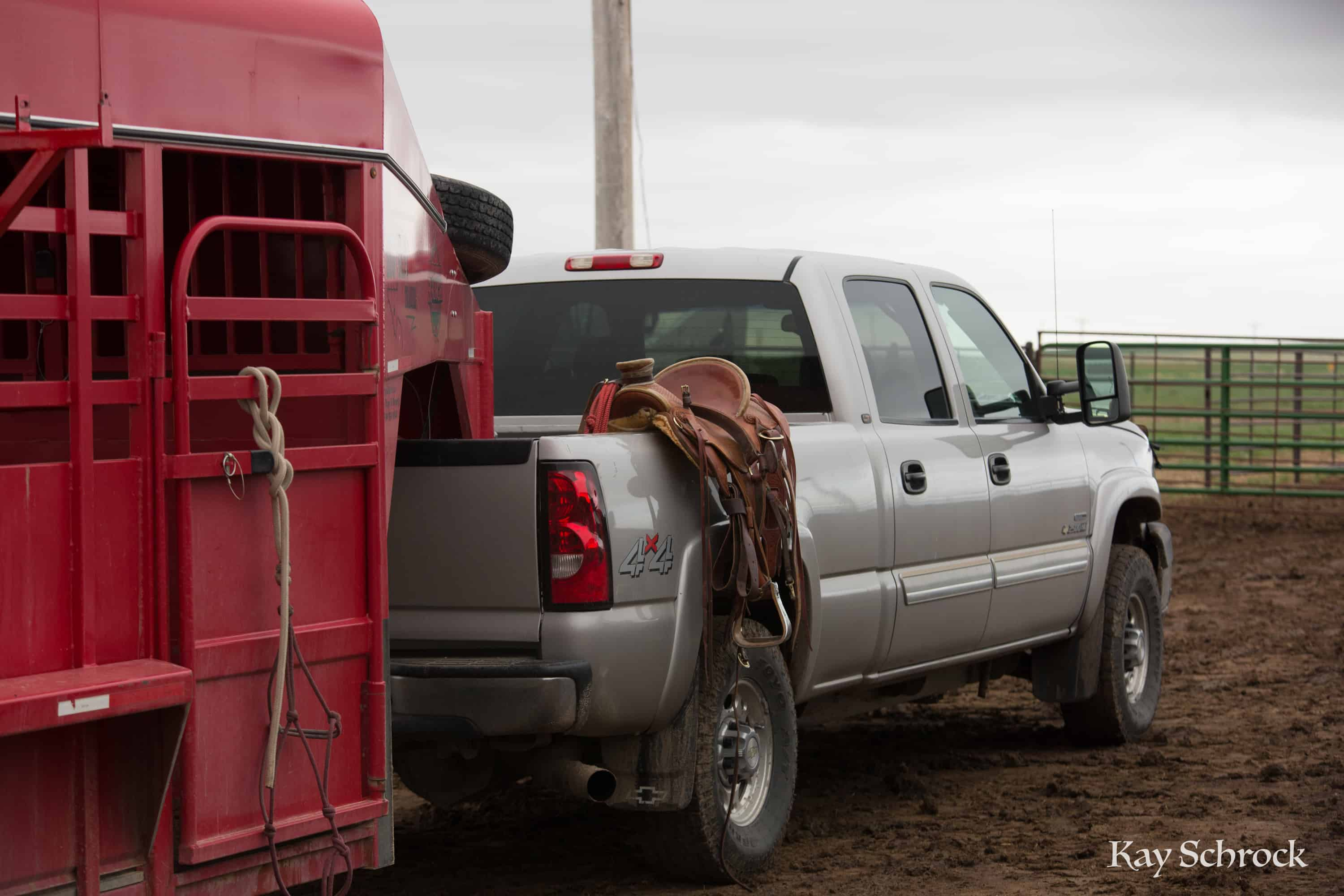 ranch truck with saddle