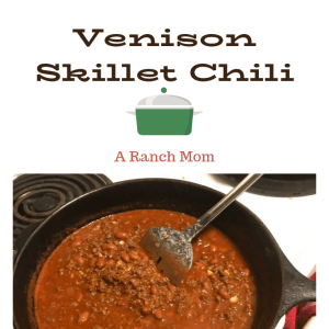 Delicious venison chili recipe. Easy, frugal, soup.