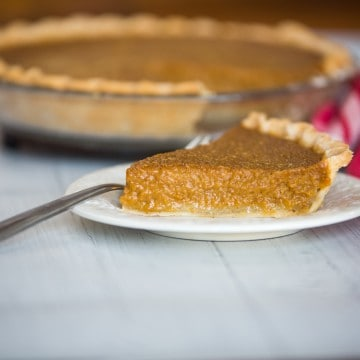 pumpkin pie on plate