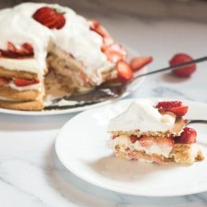 strawberry shortbread stack