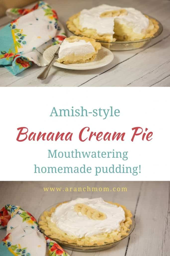 pin image for banana cream pie