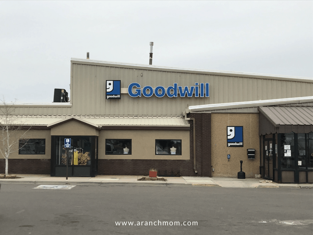 a goodwill store