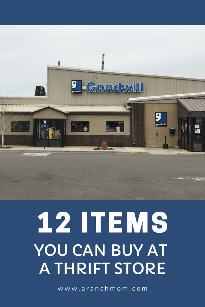 pinterest image for post, has goodwill store