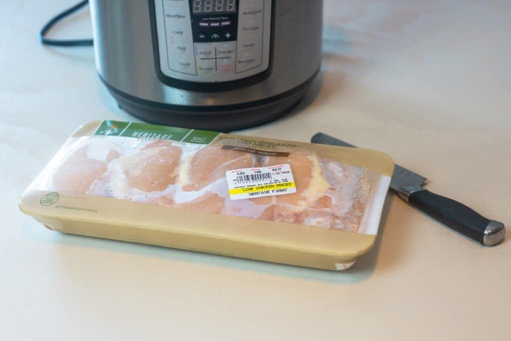 frozen chicken and instant pot