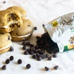 Pumpkin chocolate chip whoopie pies and scattered chocolate chips